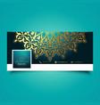 decorative mandala social media timeline cover vector image