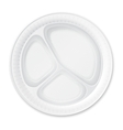 Disposable Plastic Plate Isolated on White vector image