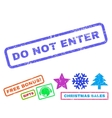 Do Not Enter Rubber Stamp vector image vector image