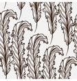 elegant seamless leaf pattern vector image