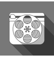 Flat long shadow cinema icon vector image vector image