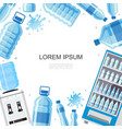 flat pure water template vector image