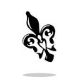 Fleur de lis with drop shadow Isolated vector image