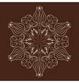 Flower mandala over dark brown vector image