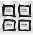 four square frames from black abstract smears vector image