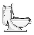 grayscale ceramic toilet hygiene domestic vector image