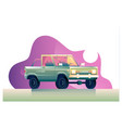 green cartoon car isolated on vector image vector image