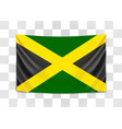 hanging flag jamaica jamaica national flag vector image vector image