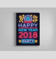 happy new year 2018 poster vector image vector image