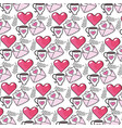 heart with cup and love card background vector image