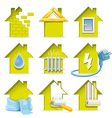 Home Construction Icons vector image vector image