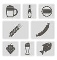 icons with symbols of beer vector image