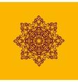 Islam henna ornament Geometric star element in vector image