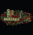 list of brokerage firms text background word vector image vector image