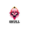 logo skull gradient colorful style vector image