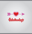 love arrow valentine days vector image vector image