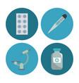 medical round symbols vector image vector image