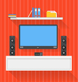 Modern home media entertainment system vector image vector image