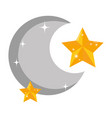 moon with stars icons vector image