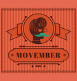 movember classic vintage annual flat vintage vector image