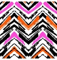Multicolor hand drawn pattern with zigzag lines vector image vector image