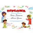 muslim kids diploma certificate vector image vector image