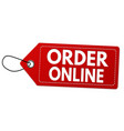 order online label or price tag vector image