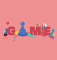 people characters playing board or tabletop games vector image vector image