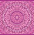 pink mandala fractal ornament background - round vector image vector image