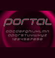 portal futuristic display font design alphabet vector image
