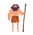 primitive archaic man wearing loincloth made of vector image vector image