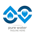 pure water drop symbol icon liquid vector image vector image