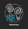 quaternary chalk concept icon knowledge sector vector image vector image
