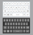 realistic mobile keyboard templat vector image vector image