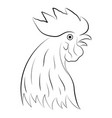 rooster head vector image vector image