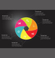 round infographic template with hexagonal vector image vector image