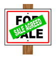 sale agreed vector image vector image