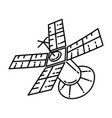 satellite icon doodle hand drawn or outline icon vector image
