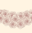 seamless border made of rose flowers vector image vector image