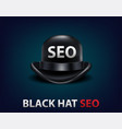 search engine optimization for web seo black hat vector image