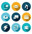 Set of Smartphone Icons Phone Message vector image