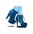 sexy woman boots with legs vector image