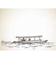 sketch boat taxi vector image