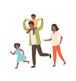 smiling family playing having fun together vector image vector image