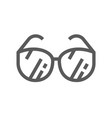 sunglasses line icon vector image vector image