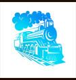 templates with a locomotive vintage train vector image