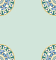 traditional ornament frame on green vector image vector image