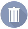 trash can icon with a long shadow vector image