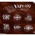 vape symbols brown vector image