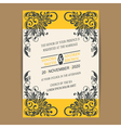 Wedding vintage wedding invitation vector image vector image